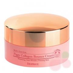 DEOPROCE Омолаживающий крем на основе свиного коллагена Piggy Collagen Bounce Cream