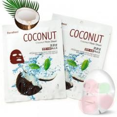 BARABONI Маска для лица с экстрактом кокосового молока Coconut Mask Sheet