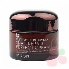 MIZON Крем с экстрактом улиточной слизи Snail Repair Perfect Cream