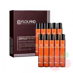 FLOLAND Филлер для восстановления поврежденных волос Premium Keratin Change Ampoule