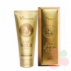 ELIZAVECCA Пенка для умывания с муцином улитки и золотом 24k Gold Snail Cleansing Foam