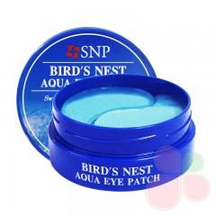 SNP Омолаживающие гидрогелевые патчи для век с ласточкиным гнездом Bird's Nest Aqua Eye Patch