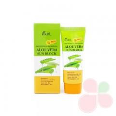 EKEL Солнцезащитный крем с алоэ вера Soothing & Moisture Aloe Vera Sun Block SPF 50 PA+++