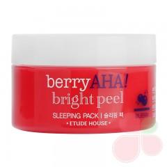 ETUDE HOUSE Ночная маска для сияния кожи с AHA-кислотами Berry Aha Bright Peel Sleeping Pack
