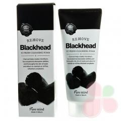PURE MIND Пенка для умывания от черных точек с углем Premium Blackhead So Fresh Cleansing Foam