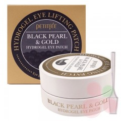 PETITFEE Гидрогелевые патчи для век Black Pearl & Gold Hydrogel Eye Patch