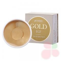 PETITFEE Локальные патчи для век Hydro Gel Eye Patch Premium Gold & EGF