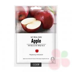 COS.W Тканевая маска с яблоком My Real Skin Apple Facial Mask