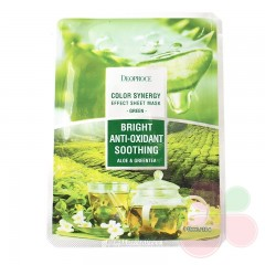 DEOPROCE Маска тканевая на основе экстрактов алоэ и зеленого чая Color Synergy Effect Sheet Mask