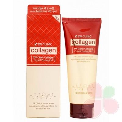 3W CLINIC Коллагеновый пилинг-скатка для лица Collagen Crystal Peeling Gel