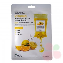EKEL Тканевая маска с витаминами premium vital mask pack essence