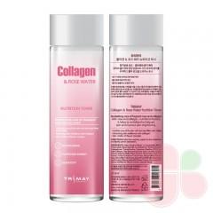 TRIMAY Питательный тонер с коллагеном и розовой водой Collagen Rose Water Nutrition Tone