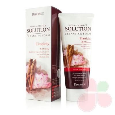 DEOPROCE Пенка для умывания с экстрактами лотоса и женьшеня Natural Perfect Solution Foam Elasticity