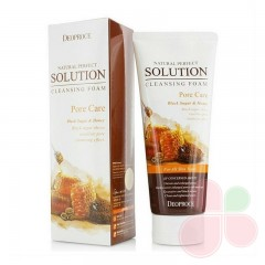 DEOPROCE Пенка для умывания с коричневым сахаром Natural Perfect Solution Cleansing Foam Pore Care