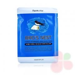 FARMSTAY Тканевая маска с экстрактом ласточкиного гнезда Visible difference mask sheet-Bird`s nest