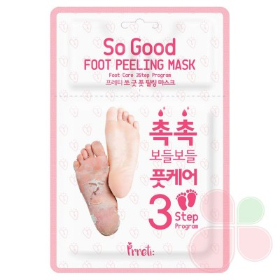 PRRETI Пилинг-носочки для ног 1 пара So Good Foot Peeling Mask 3-Step Program 1pair
