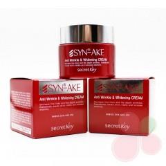 SECRET KEY Антивозрастной пептидный крем для лица Syn-Ake Anti Wrinkle & Whitening Cream