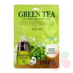 EKEL Маска с экстрактом зеленого чая Green Tea Ultra Hydrating Essence Mask