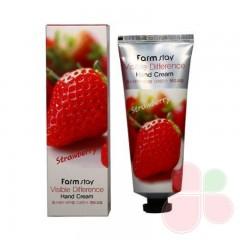 FARMSTAY Крем для рук с экстрактом клубники Visible difference hand cream strawberry