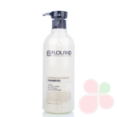 FLOLAND Восстанавливающий шампунь с кератином Premium Silk Keratin Shampoo