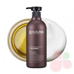 FLOLAND Восстанавливающая маска-бальзам для волос с кератином Premium Silk Keratin Treatment