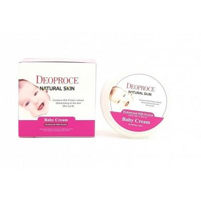 DEOPROCE Питательный детский крем на молочных белках Natural skin baby cream
