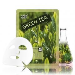 MAY ISLAND Маска для лица с зелёным чаем Real essence Mask Green Tea
