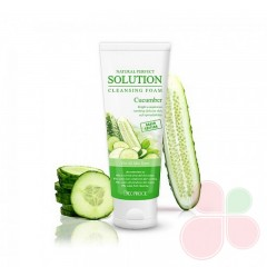 DEOPROCE Пенка для умывания с огурцом Natural Perfect Solution Cleansing Foam Cucumber