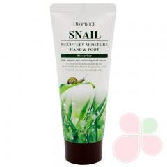 DEOPROCE Восстанавливающий крем для рук с муцином улитки Moisture Hand & Body Snail Recovery Cream