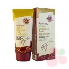FARMSTAY Улиточный солнцезащитный крем Visible Difference Snail Sun Cream SPF 50+ PA+++