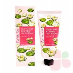 FARMSTAY Крем для рук с экстрактом водяной лилии  Pink Flower Blooming Hand Cream Water Lily