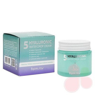 FARMSTAY Крем увлажняющий с 5 видами гиалуроновой кислоты Hyaluronic 5 Water Drop Cream