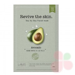 LABUTE Тканевая маска с авокадо Revive the skin Avocado Mask