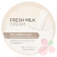 THE FACE SHOP Питательный крем для лица и тела с молочными протеинами Daegwallyeong Fresh Milk Cream
