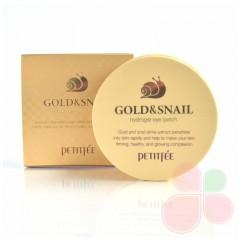 PETITFEE Гидрогелевые патчи для век ЗОЛОТО/УЛИТКА Gold/Snail Hydrogel Eye Patch