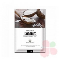 COS.W Тканевая маска с экстрактом кокоса My Real Skin Coconut Facial Mask
